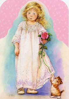 peintres lisi martin - Page 4 Vintage Pictures, Vintage Images, Sarah Kay, Cosy Christmas, Spanish Artists, Cute Images, Pictures To Paint, Cute Illustration, Cute Art
