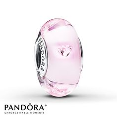 Pink Murano glass dotted with heart-shaped pink cubic zirconias give a romantic air to this sterling silver charm from the PANDORA 2015 Valentine's Day collection. Style # 791632PCZ.