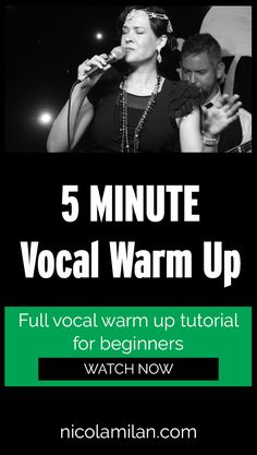 5 Minute Vocal Warm Up For Beginners - Nicola Milan Vocal Lessons, Singing Lessons, Singing Tips, Singing Warm Ups, Voice Warm Ups, Vocal Warm Up Exercises, Singing Exercises, Singing Training, Vocal Training