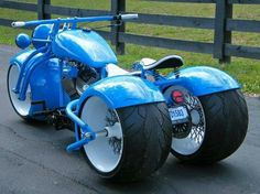 Blue trike.