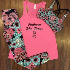 of sales from all breast cancer awareness shirts will be donated! Funny Workout Shirts, Cute Workout Outfits, Workout Attire, Athletic Outfits, Sport Outfits, Cool Outfits, Breast Cancer Walk, Breast Cancer Awareness, Girls Sports Clothes