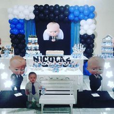 Resultado de imagen para festa poderoso chefinho Baby Birthday Decorations, Baby Birthday Themes, Baby Theme, Birthday Ideas, 2nd Birthday Party For Girl, Baby Boy Birthday, Fiesta Baby Shower, Baby Shower Parties, Baby Motiv