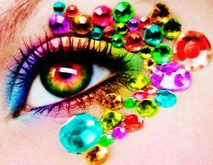 Colorful Diamonds Eye Make-up