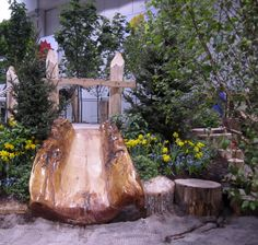 The Canadian Wildlife Federation Natural Playground built by Bienenstock (Canada Blooms 2013)