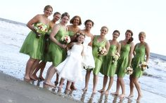 Bridal Party on the Beach at Isle of Palms | Photo by Kayla Jones Photography {Julie & Chad's Wedding at Wild Dunes Resort}