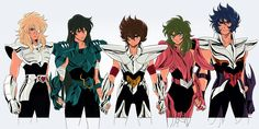 Cygnus Hyoga | Dragon Shiryu | Pegasus Seiya | Andromeda Shun | Phoenix Ikki
