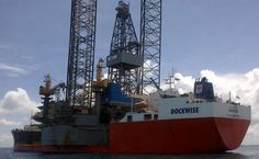 "Dockwise  Heavy lift vessel MV TRUSTEE completed her loading of the Jack up Rig ""Hercules Triumph"""