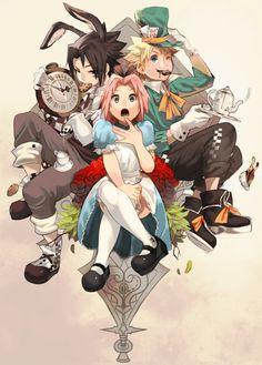 Naruto: Alice in wonderland version