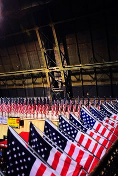 The 69th Infantry Regiment Armory in Manhattan was framed with 343 flags, representing the FDNY members who died on Sept. 11, 2001, for FDNY Medal Day 2012.