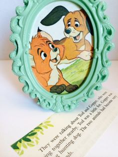 Disney's Fox and the Hound - Framed Print - Re-Purposed Children's Book Page on Etsy, $5.50