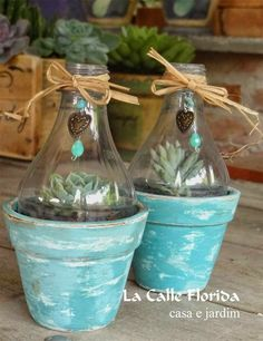 Cork Crafts, Fun Crafts, Diy And Crafts, Succulent Gardening, Succulents Diy, Decoupage Tins, Tiny Garden Ideas, Aluminum Can Crafts, Pottery Painting Designs