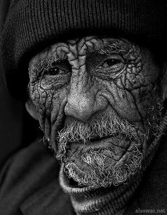 Old Man. The eyes speak gentleness and sorrow...