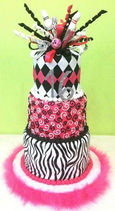 bowling theme sweet 16 cake