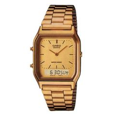 9bcb507d054 Buy Casio Unisex Gold-Tone Combination Watch at Argos. Thousands of  products for same day delivery or fast store collection.