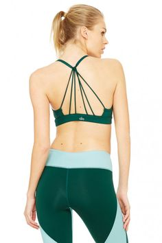 The Alo Yoga Sunny Strappy Bra beats the heat with light support, drapey layers, front shirring and strappy details down the back. Yoga Capris, Yoga Pants, Yoga Tops, Women's Leggings, Sunnies, My Style, Women's Bras, Activewear, Clothes
