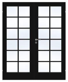 Compact doble klassiske innerdører finnes også i svart og gir en stilig kontrast. Compact, Divider, Windows, Glass, Room, Furniture, Design, Home Decor, Modern