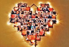 El Yapımı Işıklı Kalp Pano