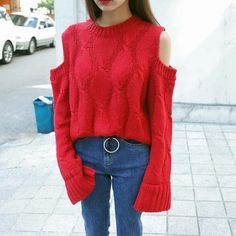 """Use coupon """"PIN10"""" to get 10% off KNITTING PULLOVER OPEN SHOULDERS cutie apparel. Kawaii Cheap clothing aesthetic, harajuku, tumblr, pastel grunge style. Free delivery worldwide  #grunge #apparel #store #cute #korean #style #FreeShipping #Worldwide #print #ulzzang #southkorean #koreanfashion #fashion #trendy #kawaii #harajuku #aesthetic #aesthetics #japanese #tumblr #clothing #outfit"""