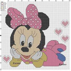 Minnie mouse punto de cruz disney, minnie punto de cruz, punto de cruz co. Cross Stitch Baby, Cross Stitch Charts, Cross Stitch Designs, Cross Stitch Patterns, Loom Patterns, Disney Stitch, Cross Stitching, Cross Stitch Embroidery, Minnie Mouse