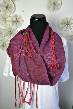Ruby pink orange and purple with braids and metal on by amberkane, $200.00