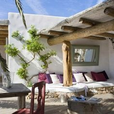 Rustic Looking Spectacular: Spanish House on Formentera Island.this is my dream outdoor living space. Outdoor Rooms, Outdoor Gardens, Outdoor Living, Outdoor Lounge, Outdoor Seating, Outdoor Couch, Rustic Outdoor, Outdoor Retreat, Indoor Outdoor