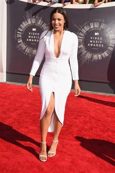 Jordin Sparks attends the 2014 MTV Video Music Awards at The Forum in Inglewood, Calif., on Aug. 24, 2014.
