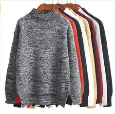 high collar winter sweater