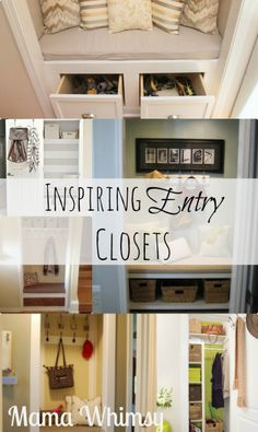 Entryway Closet Redo Inspiration! -