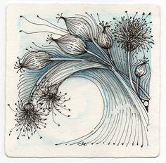 Zentangle - dandilion seed