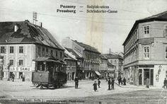Obchodná ulica Bratislava, Budapest Hungary, Old Photos, Amsterdam, Arch, Street View, Travel, Industrial, Dune