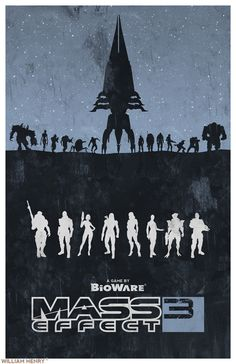 geeksngamers: Mass Effect Poster Series -... | GamesNEXT This is a sweet poster. I'd definitely get this for our basement!