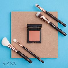 Sunrise to nighttime. Add a glowing finish with our Burning Up Luxe Color Blush and our Rose Golden Luxury brushes. #ZOEVA #burningup #rosegolden by zoevacosmetics