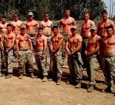 My favorite shirtless military men!!