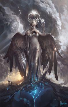 Goddess Oluia Gorda, Anthony Avon on ArtStation at https://www.artstation.com/artwork/E9zW2