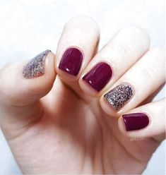 50 Fall Nail Art ideas and Autumn Color Combos to try on this season - Hike n Dip Make the most of this fall season by indulging in some fall nail art ideas. Here are the best Autumn Nails for 2019 perfect for Halloween and Thanksgiving. Simple Fall Nails, Fall Gel Nails, Glitter Gel Nails, Gelish Nails, Fall Nail Art, My Nails, Acrylic Nails, Autumn Nails, Fall Nail Ideas Gel