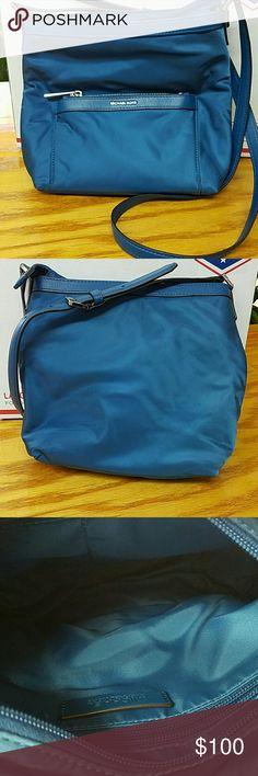"""Michael Kors Steel Blue Messenger Bag Size  10"""" X 11""""  Color: Blue Michael Kors Bags"""