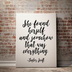 Taylor Swift Quote Prints Lyrics Print Dorm Room Decor Wall Art Prints Typography Print at Home Printable quotes Printable Lyrics Art Poster