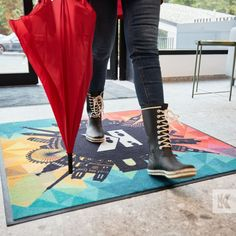 Boots are made for walking! Mats are made for cleaning - Well at least ours are! Kleen-Tex mats, function and fashion - not just a pretty face! #KleenTexEurope #autumnweather #badweather #rubberbootseason #doormats #MakeMoreOfYourFloor