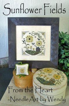Sunflower Fields - Cross Stitch Pattern