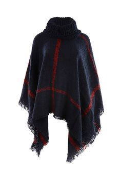 Jayley Knitted Poncho Navy
