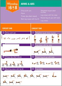 Kayla Itsines bikini body guide week 6 & 8 workout monday
