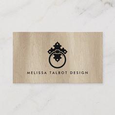 Vintage Door Knocker Logo on Pale Woodgrain Business Card Modern Business Cards, Business Card Size, Business Card Design, Casa Pizza, Wood Background, Door Knockers, Wood Grain, Vintage Shops, Vintage Inspired