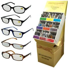 Fashionable Reading Glasses Display Case Pack 360