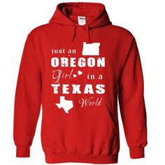 OREGON GIRL IN TEXAS T Shirts, Hoodies. Get it here ==► https://www.sunfrog.com/States/OREGON-GIRL-IN-TEXAS-Red-Hoodie.html?41382 $34.99
