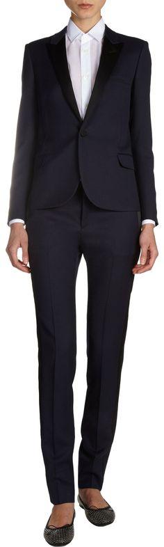 Saint Laurent Slim Tuxedo Jacket | womens tuxedo jacket | womenswear | womens style | womens fashion | wantering