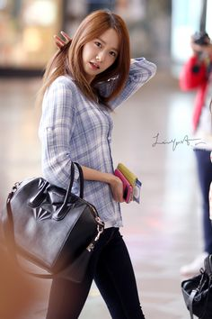 SNSD's Yoona's airport fashion