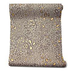 The Best Leopard-Print Wall Coverings - WSJ.com  ocelot wallpaper, $255 per roll, Farrow-ball.com