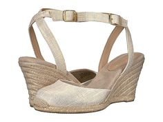 ab86a06dac2 J.Crew Seville Wedge Espadrille Women's Shoes Metallic Gold in 2019 ...