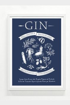 Gin Print (More Colors) - for Monte but also a great site for presents and gifts