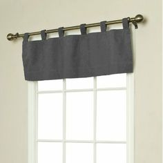 "Thermalogic Weathermate Insulated Solid Color Tab Top Valance, Pewter, 40 x 15"" by Commonwealth Home Fashions. $14.95. 40"" wide x 15"" long. These stylish solid colored curtains have a thermal insulating backing to guard your rooms against cold drafts in winter and to repel the heat in summer. They will help save energy and reduce utility bills year-round. The insulated backing also darkens rooms and acts as a sound barrier from unwanted outside noises. Features 6 tabs per pan..."